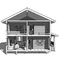 Дом из бруса в 2 этажа - проекты
