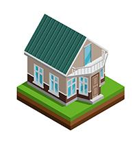 Иконка дом из бруса под ключ - СБК ВИКИ