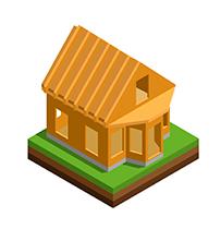 Иконка дом из бруса под крышу - СБК ВИКИ