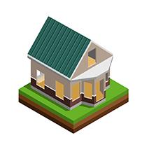 Иконка дом из бруса под усадку - СБК ВИКИ