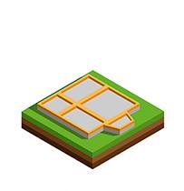 Иконка дом из бруса с фундаментом - СБК ВИКИ