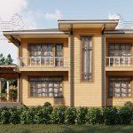 Двухэтажный дом из бруса в чашу 12,5 на 15,5 м «Зодчий» (13)
