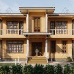 Двухэтажный дом из бруса в чашу 12,5 на 15,5 м «Зодчий» (14)