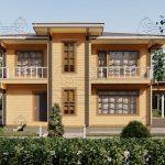 Двухэтажный дом из бруса в чашу 12,5 на 15,5 м «Зодчий» (15)