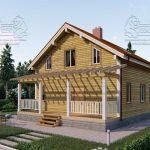 Проект дома из бруса 9 на 12 «Заокский» с эркером (1)
