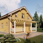 Проект дома из бруса 9 на 12 «Заокский» с эркером (2)