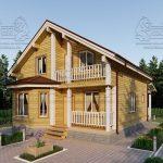 Проект дома из бруса 9 на 12 «Заокский» с эркером (3)