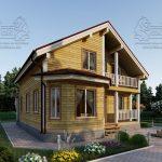Проект дома из бруса 9 на 12 «Заокский» с эркером (4)