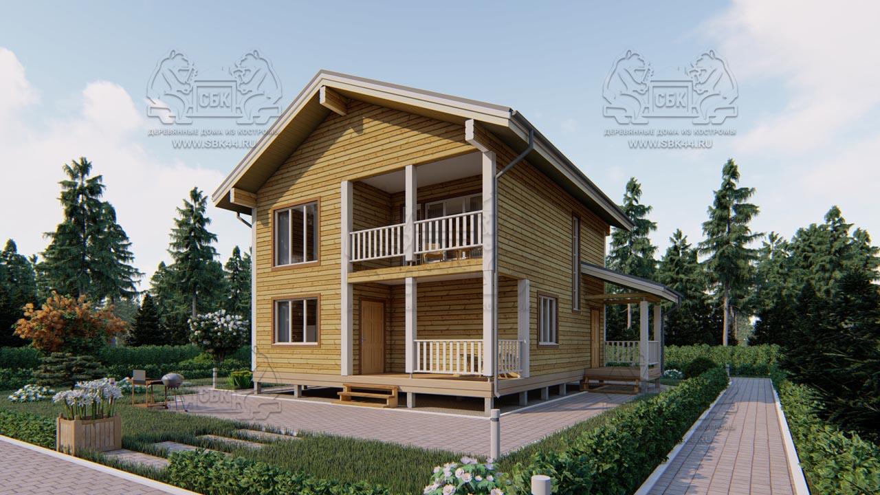 Дом из Бруса 10,5 на 9,5 в 2 этажа - Ясенево (1)