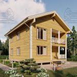 Дом из Бруса 10,5 на 9,5 в 2 этажа - Ясенево (2)