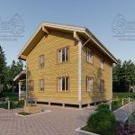 Дом из Бруса 10,5 на 9,5 в 2 этажа - Ясенево (3)
