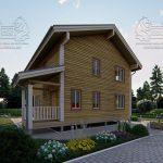 Дом из Бруса 10,5 на 9,5 в 2 этажа - Ясенево (4)