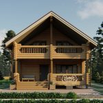 Дом из оцилиндрованного бревна - проект 8 х 11 (1)