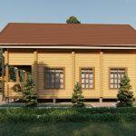 Дом из оцилиндрованного бревна - проект 8 х 11 (3)