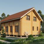 Дом из оцилиндрованного бревна - проект 8 х 11 (4)