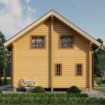 Дом из оцилиндрованного бревна - проект 8 х 11 (5)