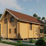 Дом из оцилиндрованного бревна - проект 8 х 11 (6)