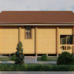 Дом из оцилиндрованного бревна - проект 8 х 11 (7)