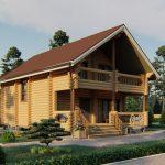Дом из оцилиндрованного бревна - проект 8 х 11 (8)