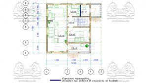 План 1-го этажа - Дом из Бруса 10,5 на 9,5 в 2 этажа - Ясенево