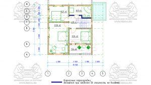 План 2-го этажа - Дом из Бруса 10,5 на 9,5 в 2 этажа - Ясенево