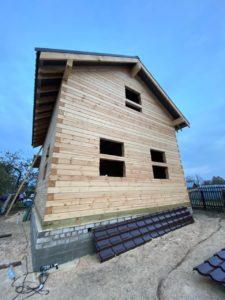Строительство дома 6 х 7 из профилированного бруса в Костроме Борщино (4)