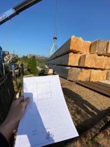 Строительство дома 6 х 7 из профилированного бруса в Костроме Борщино (9)
