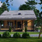 Проект дома из бруса в чашу Малиновка - Внешний вид (2)