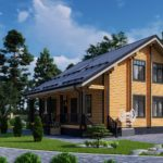 Проект дома из бруса в чашу Малиновка - Внешний вид (3)