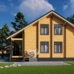 Проект дома из бруса в чашу Малиновка - Внешний вид (4)