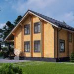 Проект дома из бруса в чашу Малиновка - Внешний вид (5)