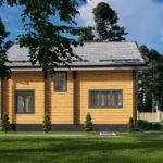 Проект дома из бруса в чашу Малиновка - Внешний вид (6)