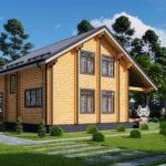 Проект дома из бруса в чашу Малиновка - Внешний вид (7)