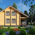 Проект дома из бруса в чашу Малиновка - Внешний вид (8)